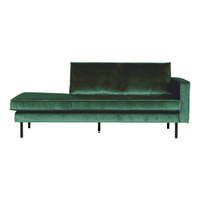 BePureHome Daybed 'Rodeo' Rechts, Velvet, kleur Forest Green