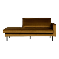 BePureHome Daybed 'Rodeo' Rechts, Velvet, kleur Honey (geel)
