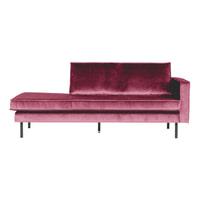 BePureHome Daybed 'Rodeo' Rechts, Velvet, kleur Roze