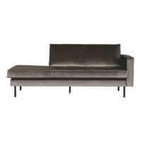 BePureHome Daybed 'Rodeo' Rechts, Velvet, kleur Taupe