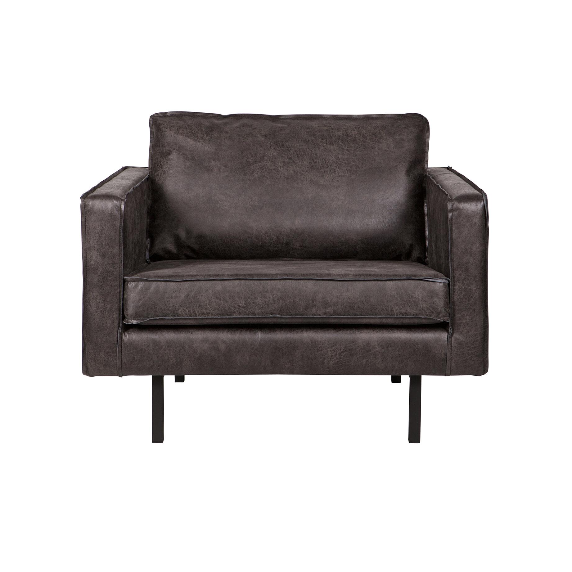BePureHome Fauteuil 'Rodeo', kleur zwart met voordeel snel in huis via Meubel Partner