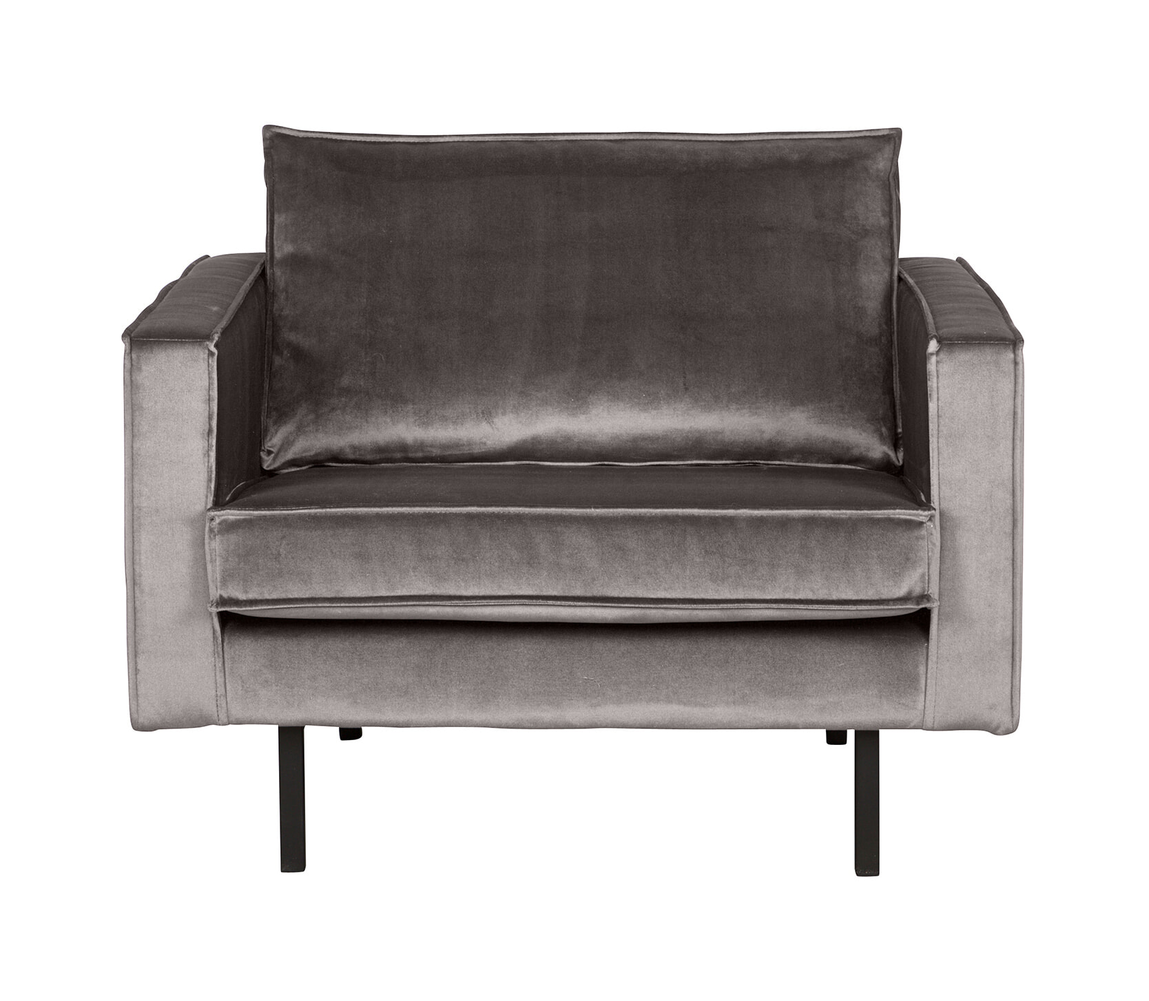 BePureHome Fauteuil 'Rodeo' Velours, kleur Taupe