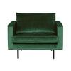 BePureHome Fauteuil 'Rodeo' Velvet, kleur Forest Green