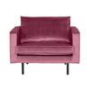 BePureHome Fauteuil 'Rodeo' Velvet, kleur Roze