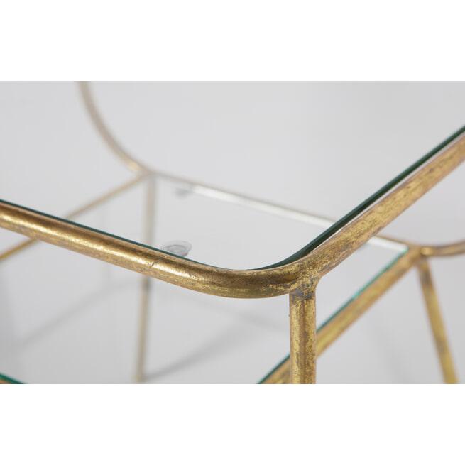 BePureHome Glazen Bijzettafel 'Amazing' kleur Antique Brass
