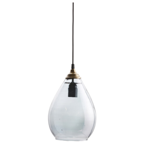 BePureHome Hanglamp 'Simple' Glas Large, kleur Grijs