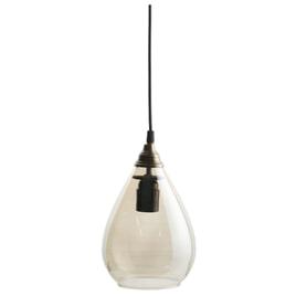 BePureHome Hanglamp 'Simple' Glas Medium, kleur Antique Brass