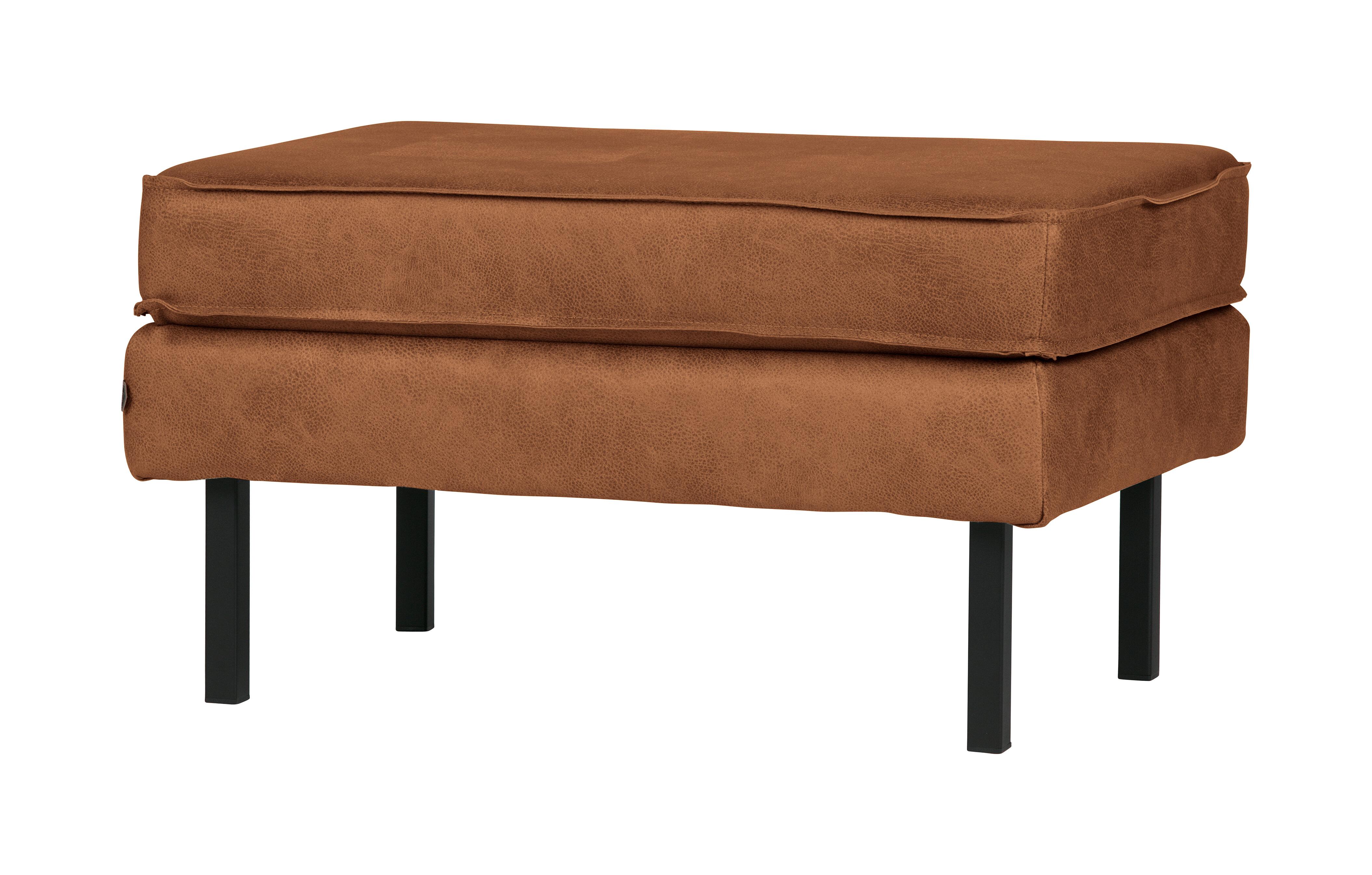 BePureHome Hocker 'Rodeo' Eco leder, kleur Cognac Eco Leder: 70% leder en 30% polyester aanschaffen? Kijk hier!