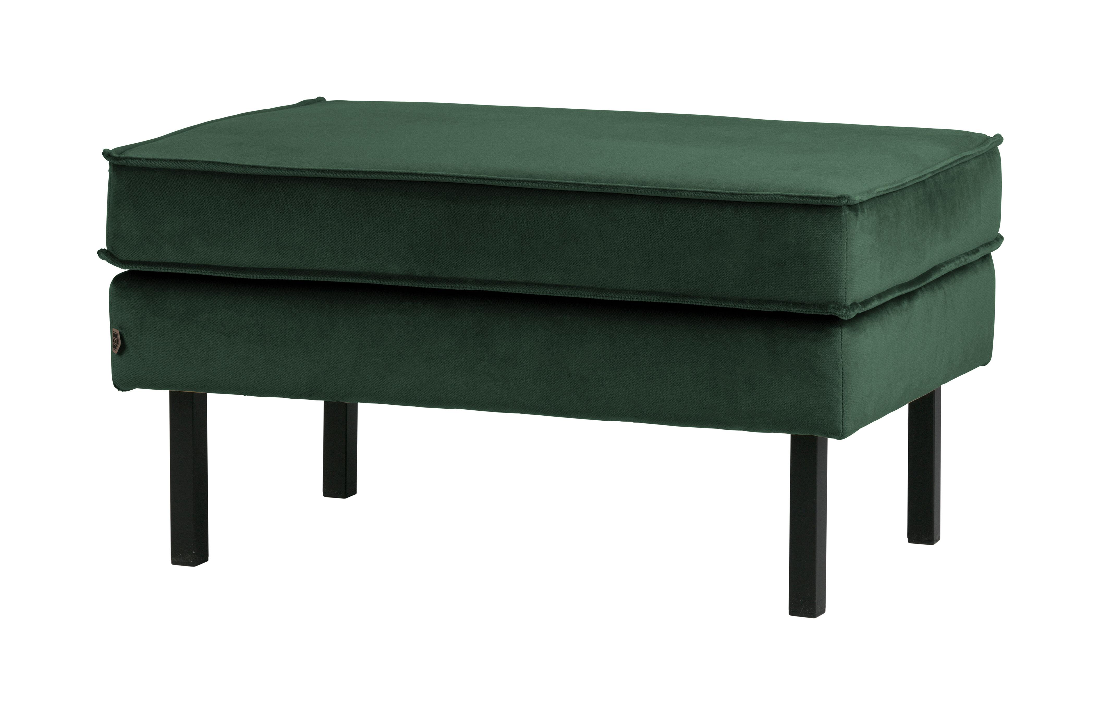BePureHome Hocker 'Rodeo' Velvet, kleur Groen Velvet (velours-textiel) 100% polyester aanschaffen? Kijk hier!
