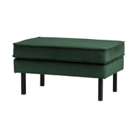 BePureHome Hocker 'Rodeo' Velvet, kleur Groen