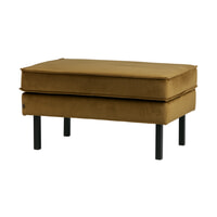 BePureHome Hocker 'Rodeo' Velvet, kleur Honey (geel)