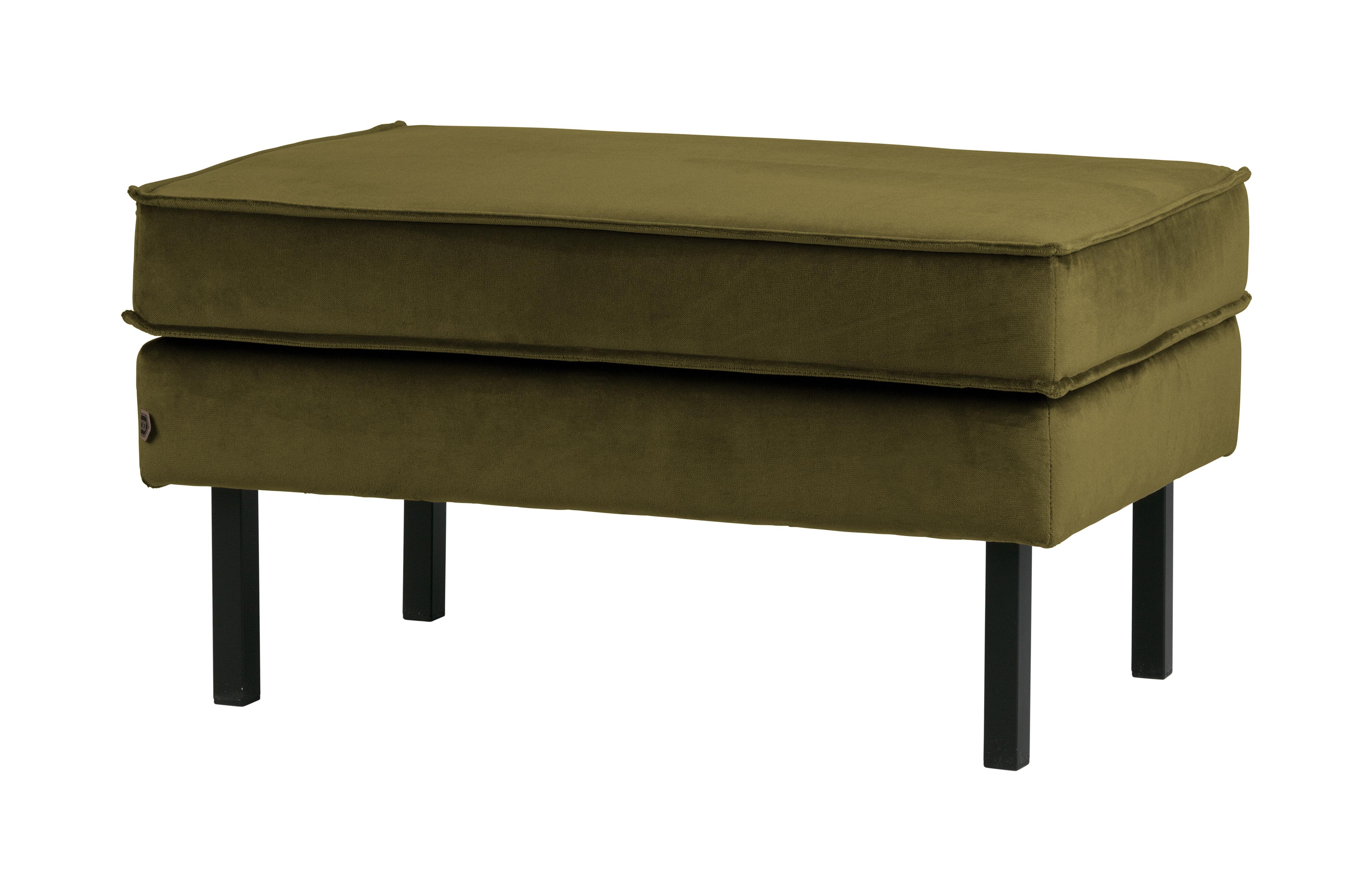 BePureHome Hocker 'Rodeo' Velvet, kleur Olijfgroen Velvet (velours-textiel) 100% polyester aanschaffen? Kijk hier!
