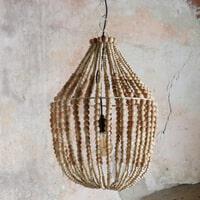 BePureHome Kroonluchter 'Funale' met houten kralen, kleur Naturel