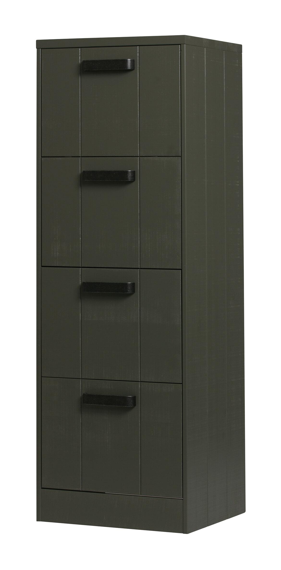 BePureHome Ladenkast 'File', kleur Forest Green Grofgezaagd grenenhout aanschaffen? Kijk hier!