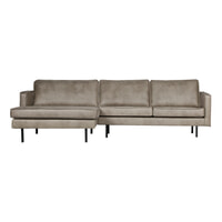 BePureHome Loungebank 'Rodeo' Links, kleur Elephant skin