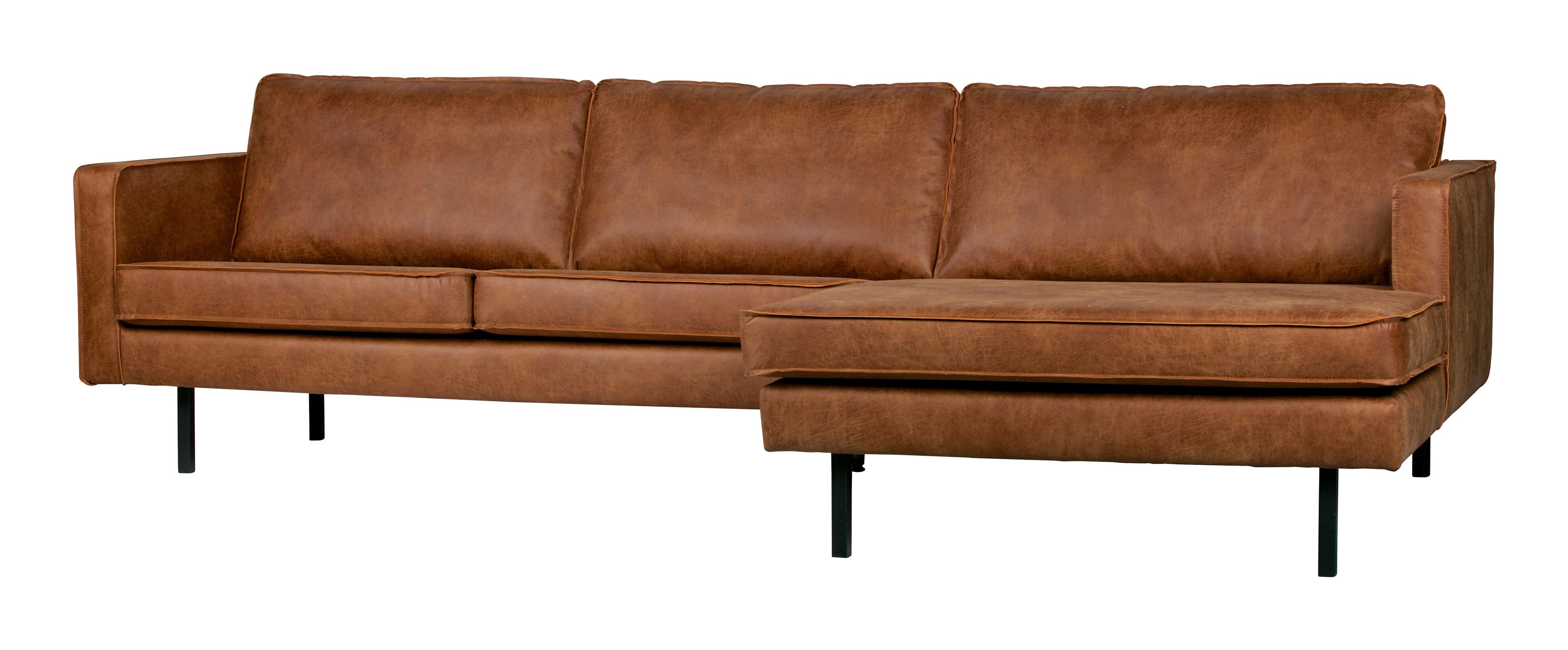 BePureHome Loungebank 'Rodeo' Rechts, Eco Leder, kleur Cognac Eco Leder: 70% leder en 30% polyester aanschaffen? Kijk hier!