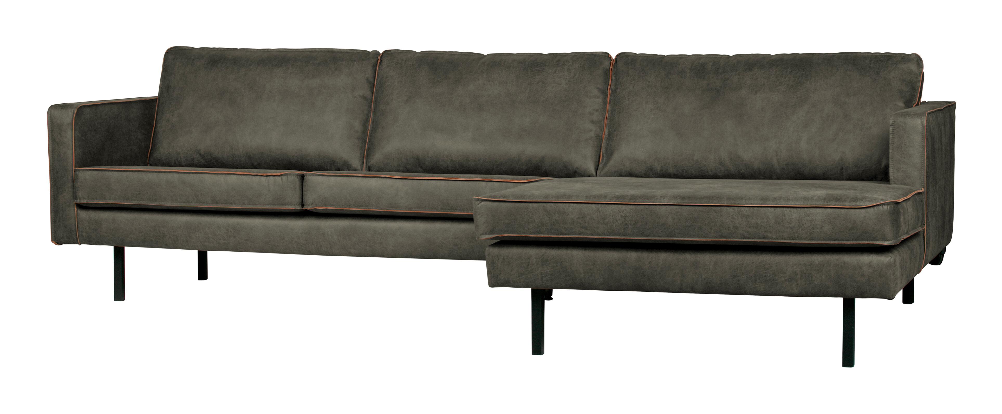 BePureHome Loungebank 'Rodeo' Rechts, Eco Leder, kleur Legergroen Eco Leder: 70% leder en 30% polyester aanschaffen? Kijk hier!