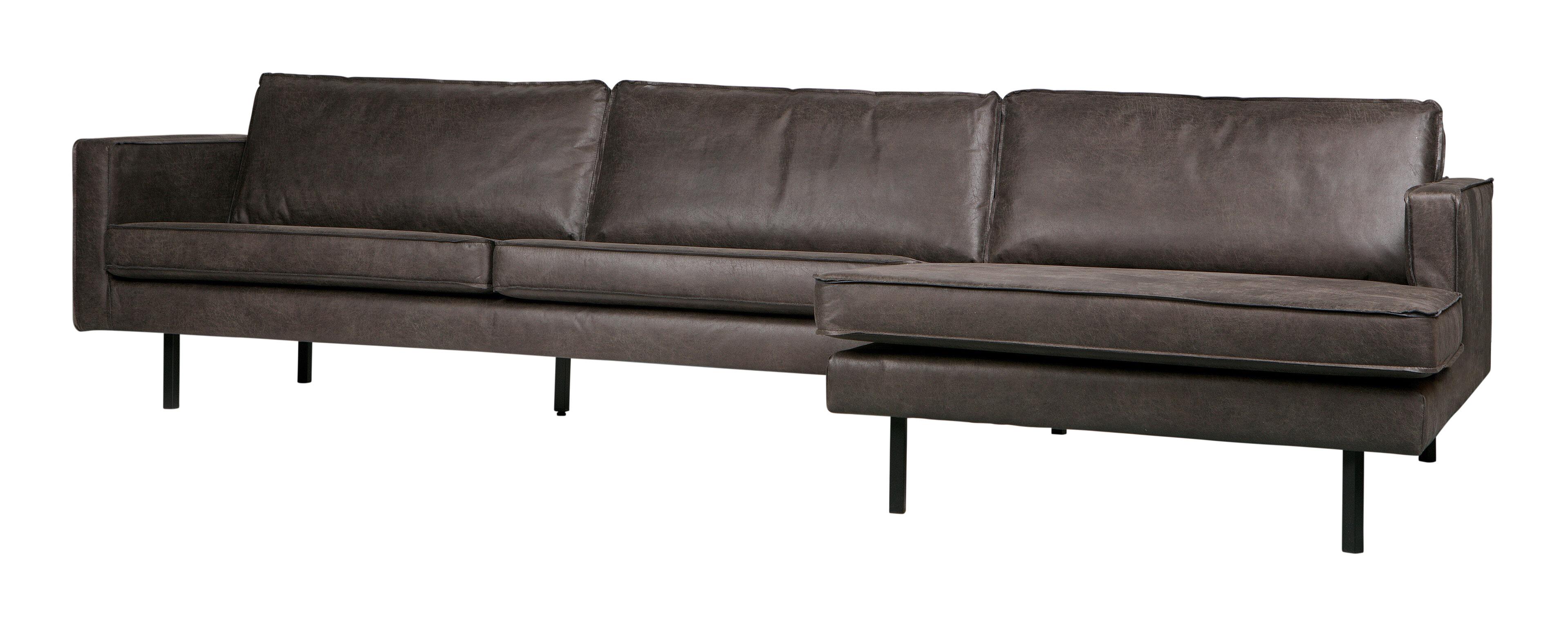 BePureHome Loungebank 'Rodeo' Rechts, Eco Leder, kleur Zwart Eco Leder: 70% leder en 30% polyester aanschaffen? Kijk hier!