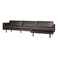 BePureHome Loungebank 'Rodeo' Rechts, Eco Leder, kleur Zwart