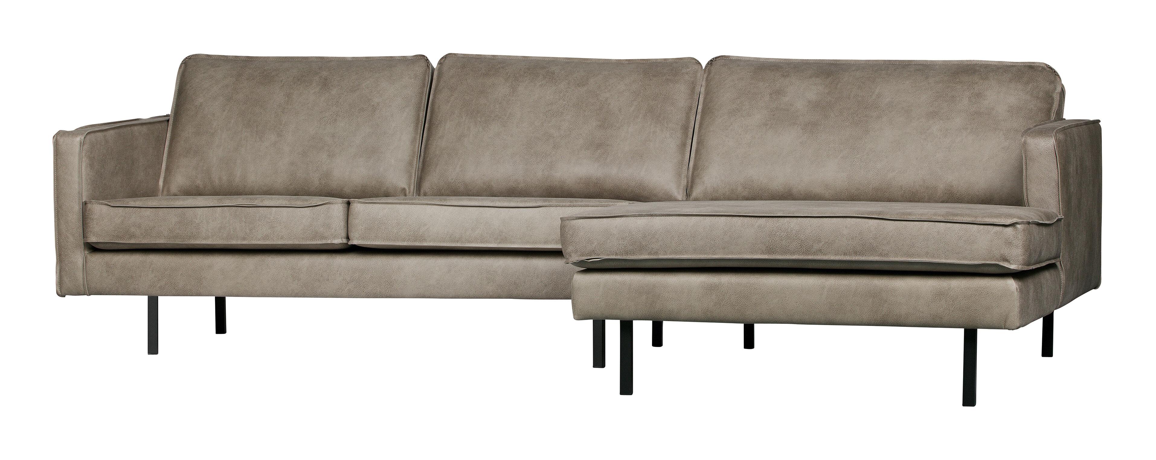 BePureHome Loungebank 'Rodeo' Rechts, kleur Elephant skin 50% Nylon / 50% Pu aanschaffen? Kijk hier!