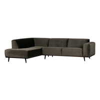 BePureHome Loungebank 'Statement' Velvet, Links, kleur Groen