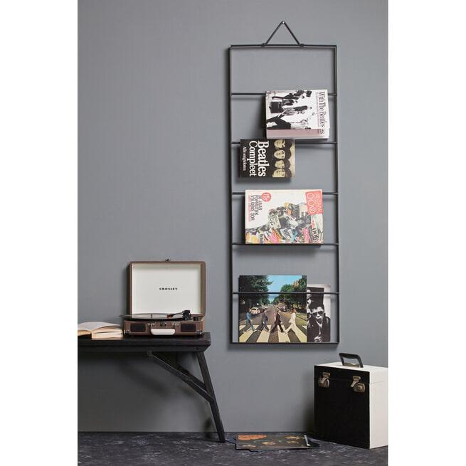 BePureHome Metalen Wandrek 'Collect', kleur Zwart