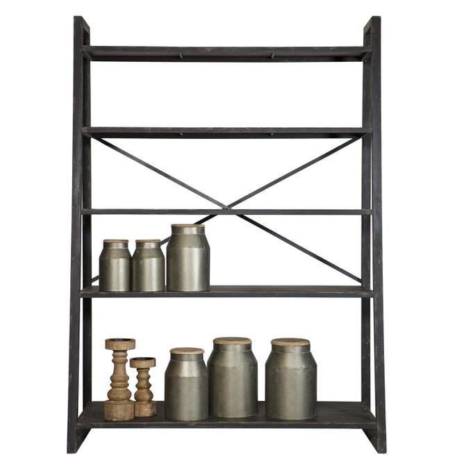BePureHome Metalen Wandrek 'Splurge' kleur zwart