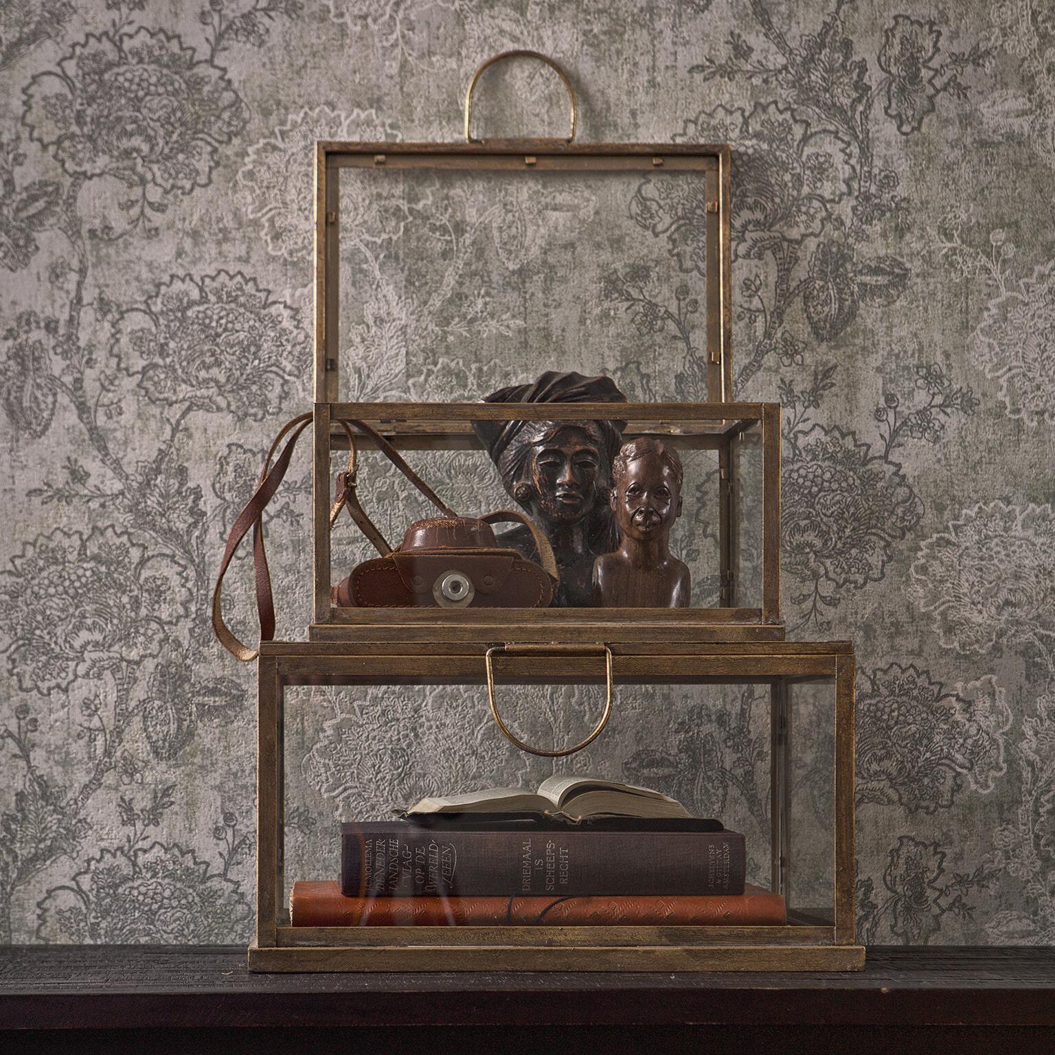 BePureHome Opbergdoos 'Fortune' Set van 2 stuks, kleur Antique Brass Metaal met antiek brass afwerking aanschaffen? Kijk hier!