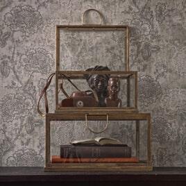 BePureHome Opbergdoos 'Fortune' Set van 2 stuks, kleur Antique Brass
