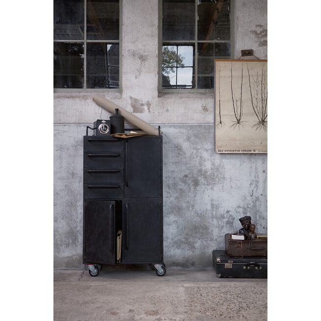 BePureHome Opbergkast 'Black Beauty', kleur Zwart
