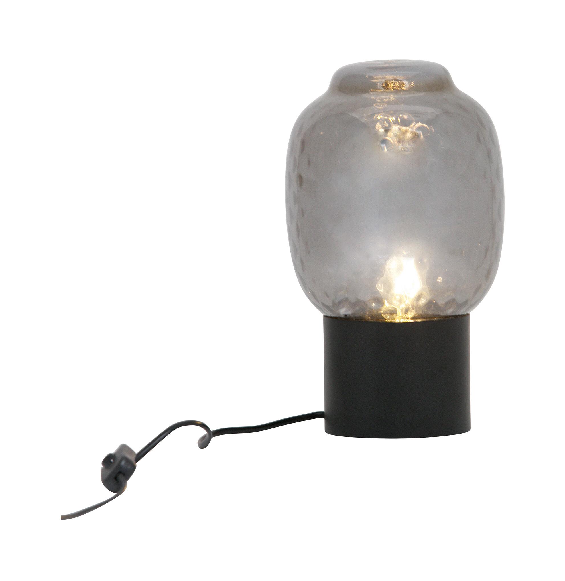 BePureHome Tafellamp 'Bubble' 29cm, kleur Zwart Metaal met glas aanschaffen? Kijk hier!