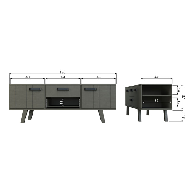 BePureHome TV-meubel 'Watch' 150cm