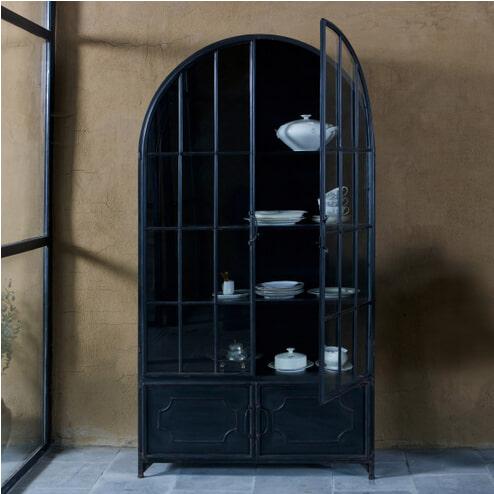 BePureHome Vitrinekast 'Arcade', kleur Zwart