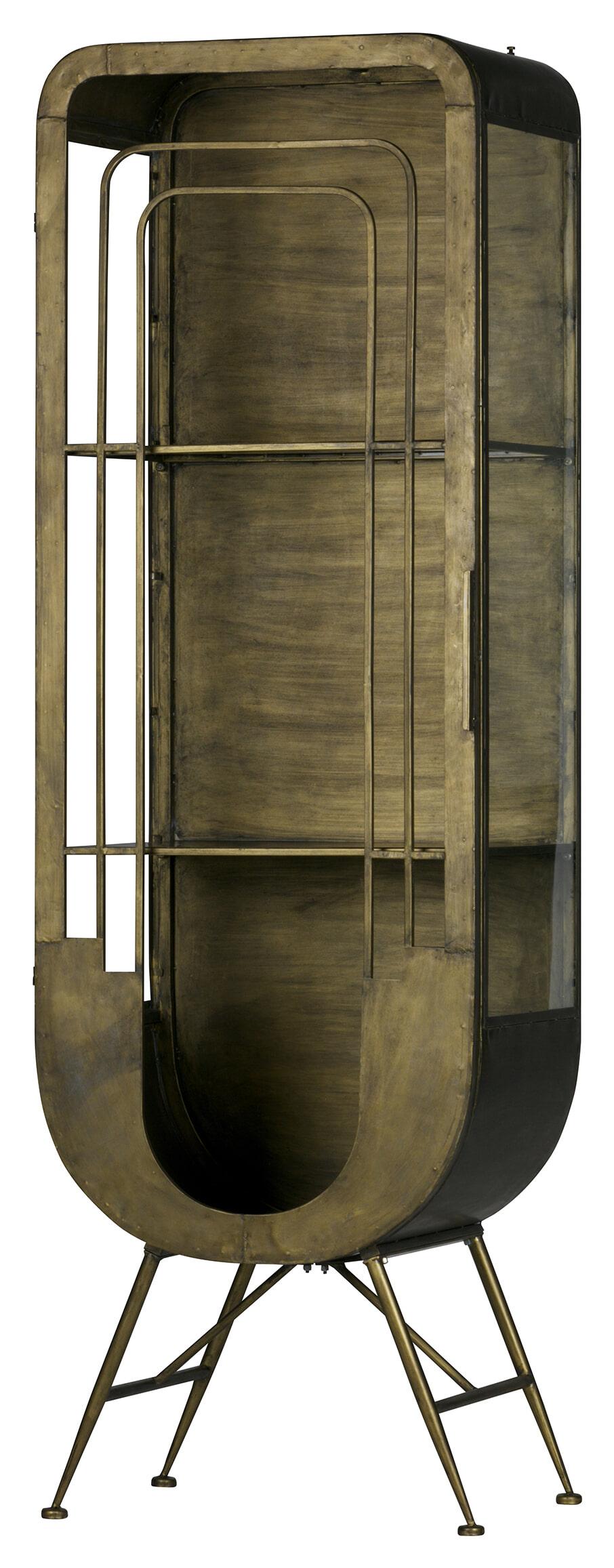 BePureHome Vitrinekast 'Matrix', kleur Antique Brass Metaal met antiek brass afwerking aanschaffen? Kijk hier!