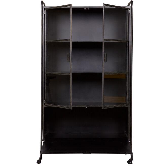 BePureHome Vitrinekast 'Steel Storage' Metaal, kleur zwart