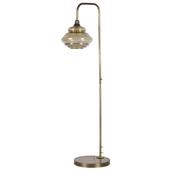 BePureHome Vloerlamp 'Obvious', kleur Antique Brass