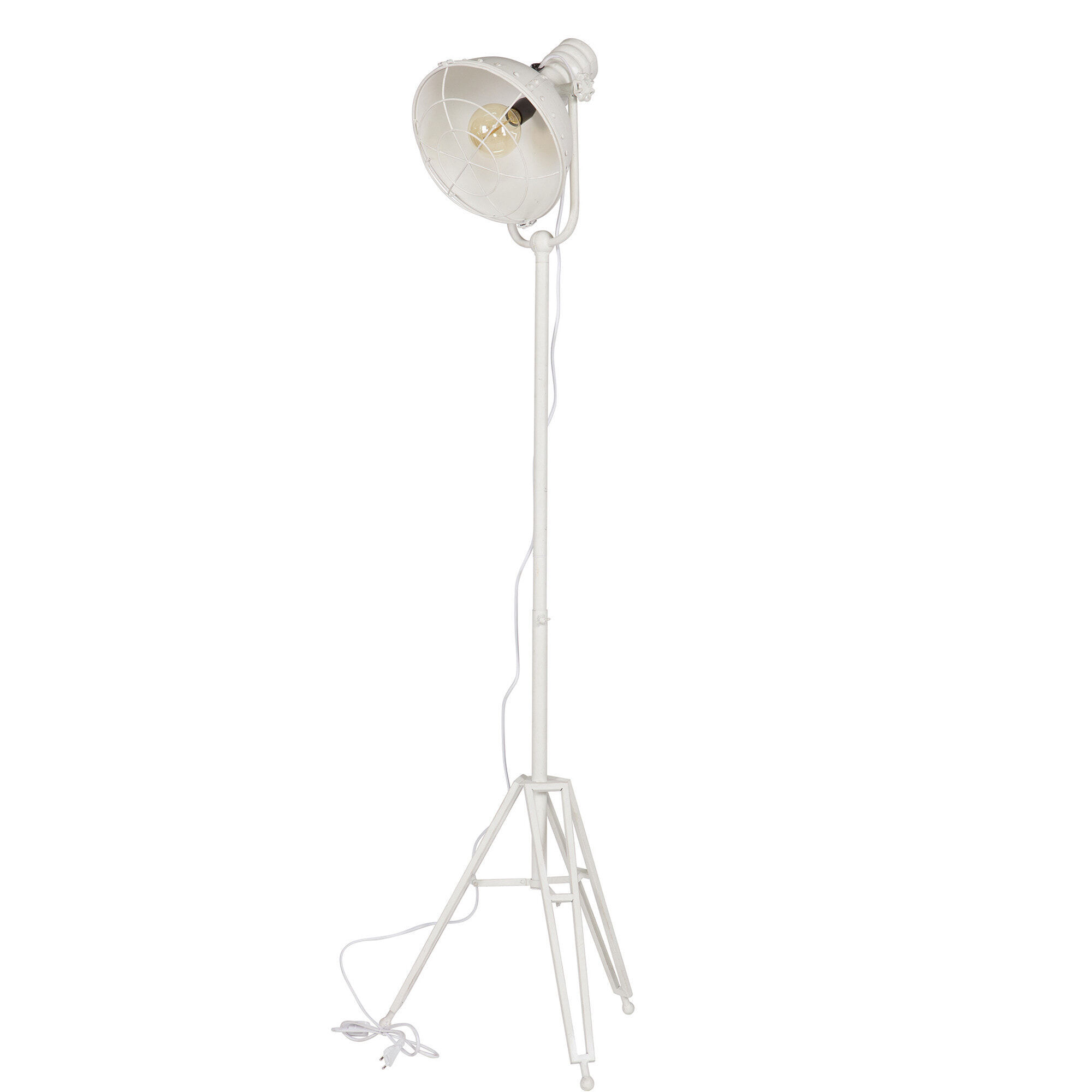 BePureHome Vloerlamp 'Spotlight' kleur wit