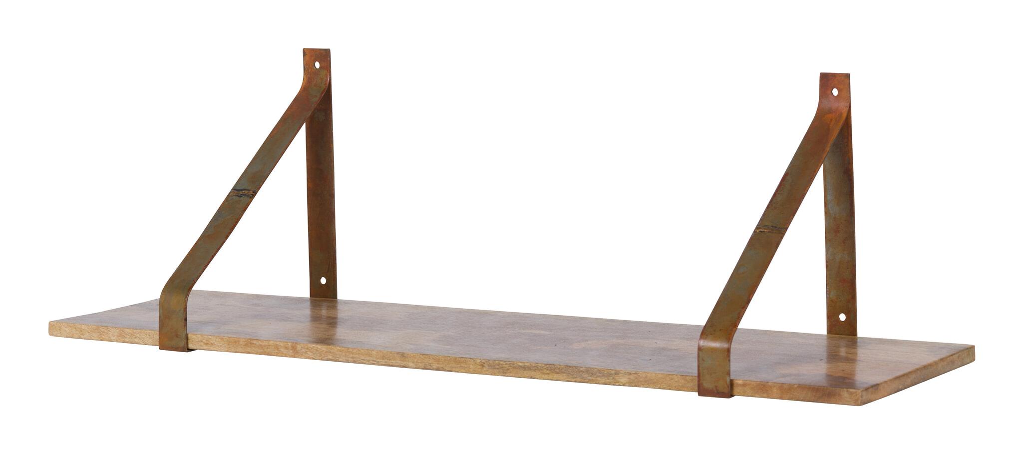 Wandplank 80 Cm.Bepurehome Wandplank Welldone 80cm Kleur Roest 800744 R