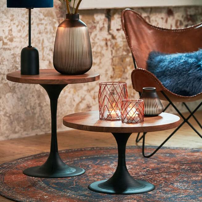 Light & Living Bijzettafel 'Biboca' Acaciahout