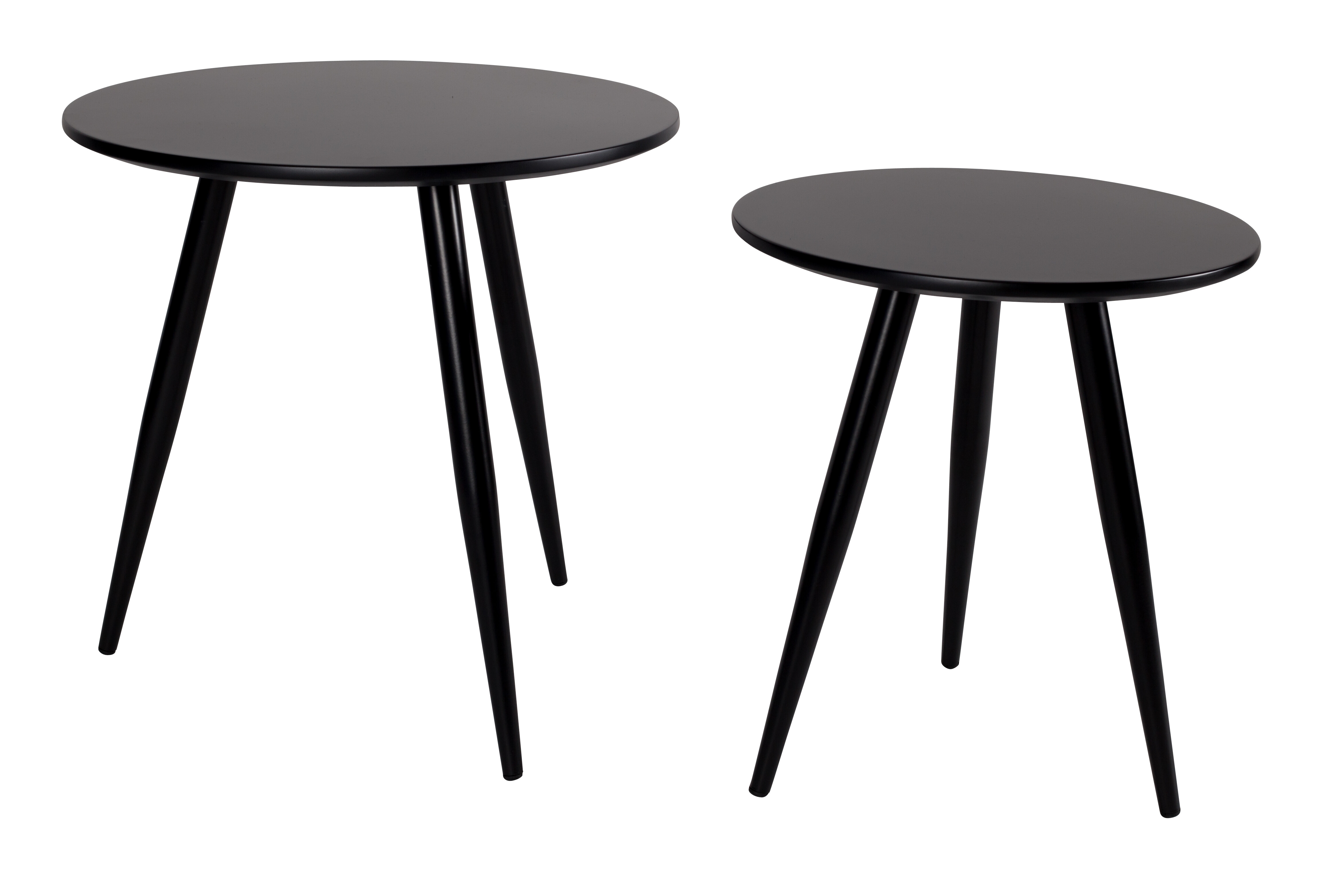 Bijzettafel 'Kevan' set van 2 stuks, kleur Zwart