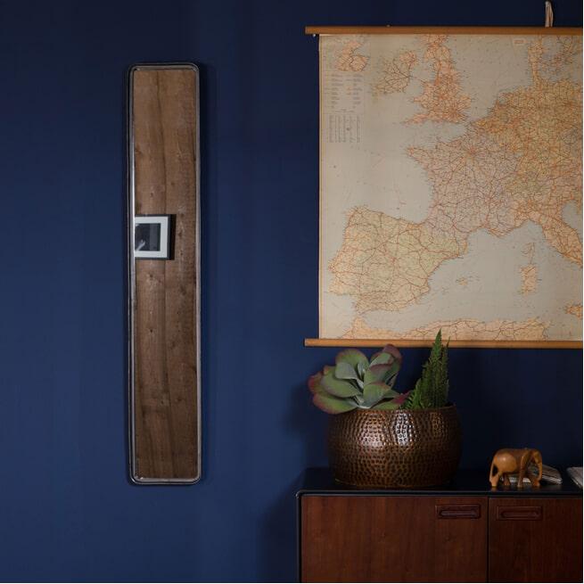 Dutchbone Spiegel 'Blackbeam' 120 x 20cm