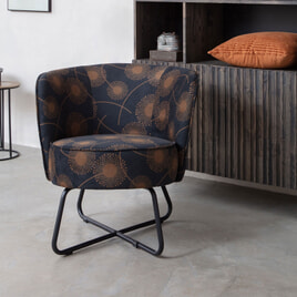 WOOOD Fauteuil 'Bloom' Velvet