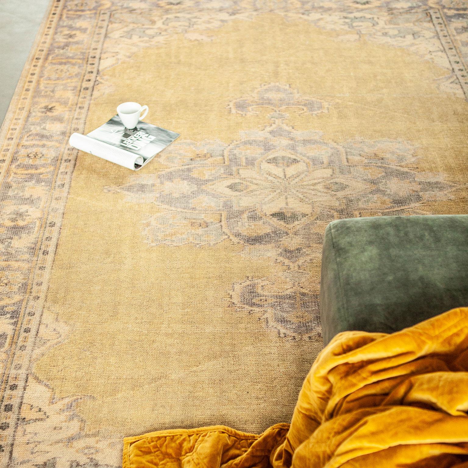 By-Boo Vloerkleed 'Blush' 200 x 290 cm, kleur geel