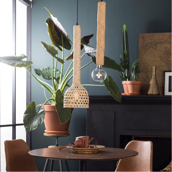 Dutchbone Hanglamp 'Boo' Bamboe, 22.5cm