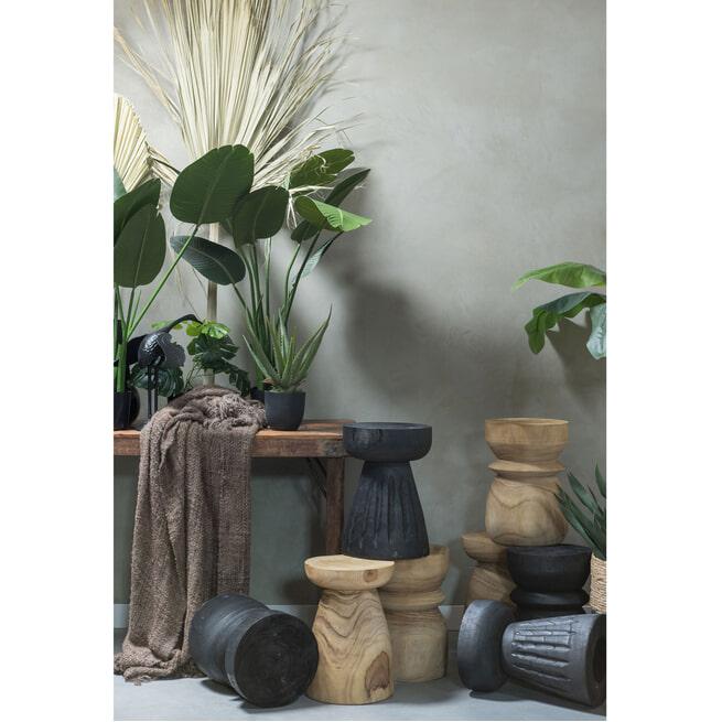 WOOOD Krukje 'Bikkel', kleur Zwart, Ø28cm
