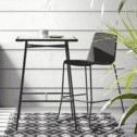 Kave Home Barkruk 'Brianne' (zithoogte 74cm), kleur Donkergrijs