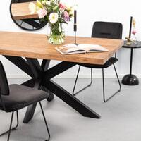 SoHome Eettafel 'Yannick Spider' Mangohout en staal, 180 x 90cm