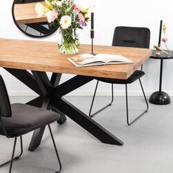 Sohome Eettafel 'Yannick Spider' Mangohout en staal, 240 x 100cm