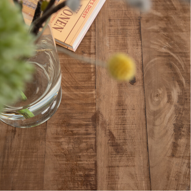 Brix Ronde Salontafels 'Jamie' set van 2 stuks, mango met metaal