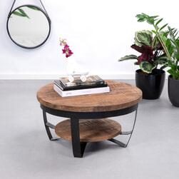 Brix Salontafel 'Mark' 65cm, kleur zwart